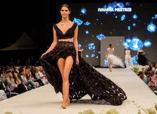 Famosos. La modelo colombiana Toya Montoya durante los desfiles. V.M.