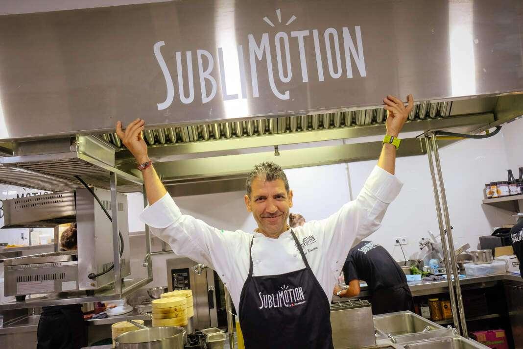 Paco Roncero durante la apertura de Sublimotion del pasado año. Foto: sergio g. cañizares