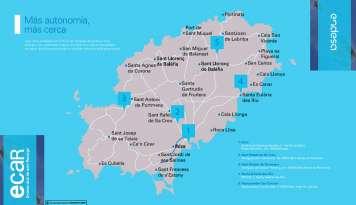 La nueva red de carga pública en Eivissa está formada por cinco puntos de carga instalados a 25 km de distancia entre ellos que, junto a la autonomía de 100km que ofrece el Smart eléctrico reduce el miedo a quedarse sin batería. foto: endesa