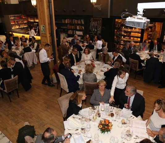 Academia de Gastronomía de Ibiza y Formentera. Almuerzo organizado por la Academia en el restaurante El Taller de Madrid.