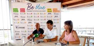 Be Blue. La presentación tuvo lugar en la Estación Marítima del puerto de la Savina. C. C.