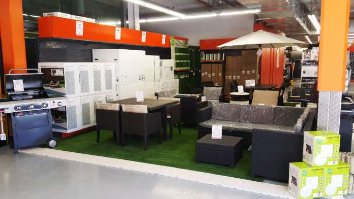 Instalaciones de Rampuixa. La bienvenida al verano de Rampuixa Baumaterial. Fotos: Rampuixa Baumaterial.