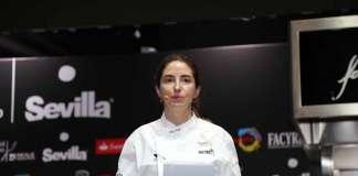 La chef Elena Arzak durante su conferencia. J.S.