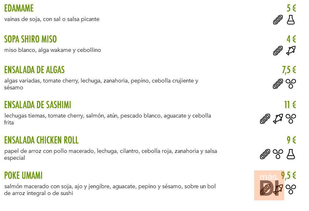 Umami Sushi&Bento ofrece una carta basada en productos de proximidad 100% ibicencos.