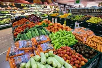 Los productos frescos son uno de los puntos fuertes de la cadena de supermercados.