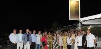Exvicecónsul italiano. Las primeras autoridades locales junto a la nueva cónsul de Italia en España, Gaia Lucilla Danese, en Marina Botafoch. fotos: Gabi Vázquez