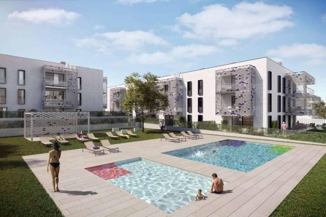 Recreación de la promoción de 45 viviendas, construidas bajo los principios de eficiencia, versatilidad y ahorro. Foto: OD Real Estate