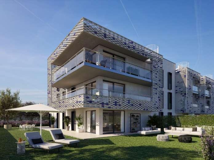 Vivienda nueva Ibiza. Recreación de la promoción de 45 viviendas, construidas bajo los principios de eficiencia, versatilidad y ahorro. Foto: OD Real Estate