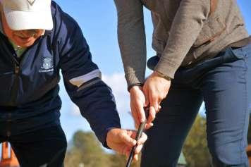 Durante los días 20 y 21 de octubre, los profesores de la academia impartirán clases totalmente gratuitas a quienes se atrevan a probarlo. Foto: Golf Ibiza
