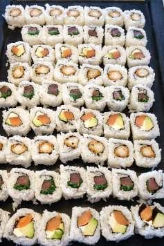 En el bruch de Hotel Simbad también hay sushi.